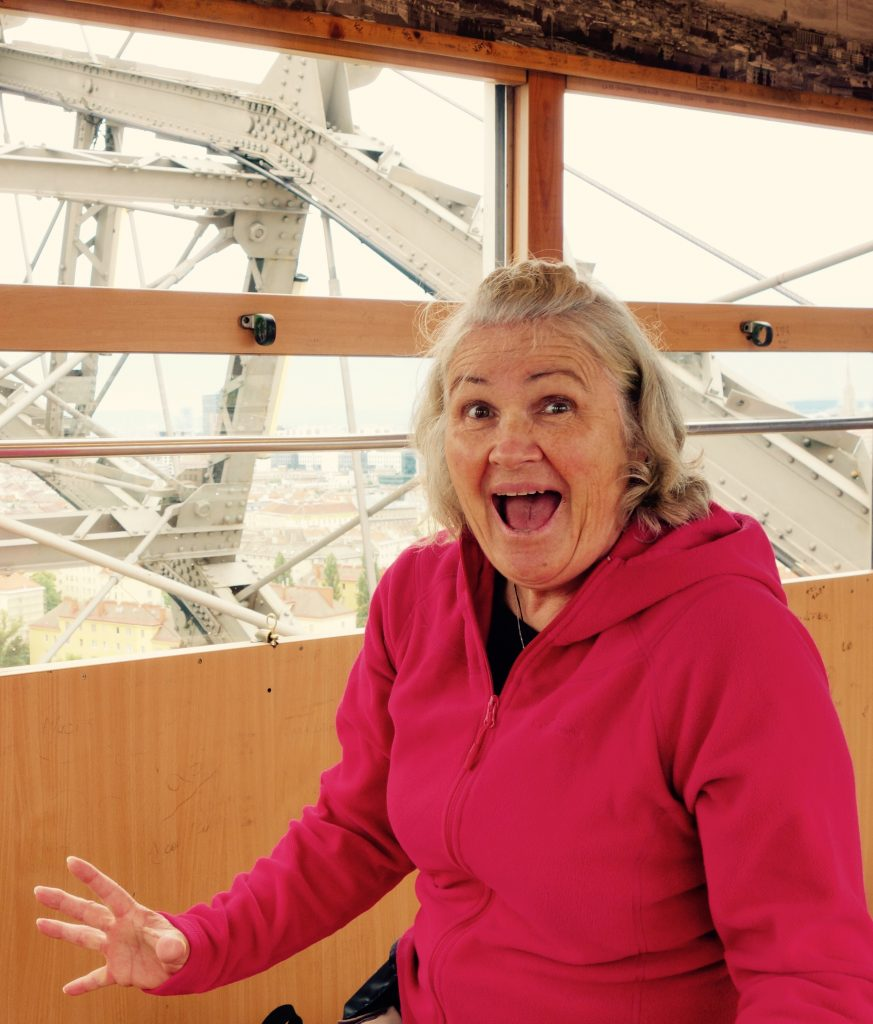 Paulette on the Giant Ferris Wheel