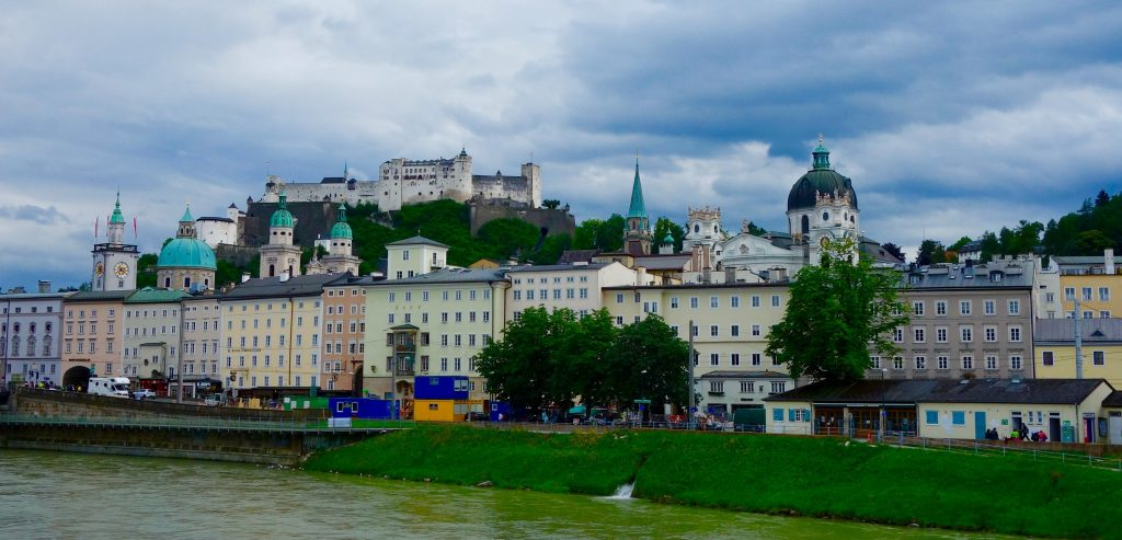 Salzburg old town from the river