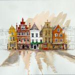 After the rain, Delft, Netherlands, $425 (framed)