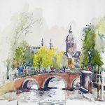 In Amsterdam, ($425 (framed)
