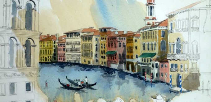 From the Rialto Bridge, Venice, $425 Framed