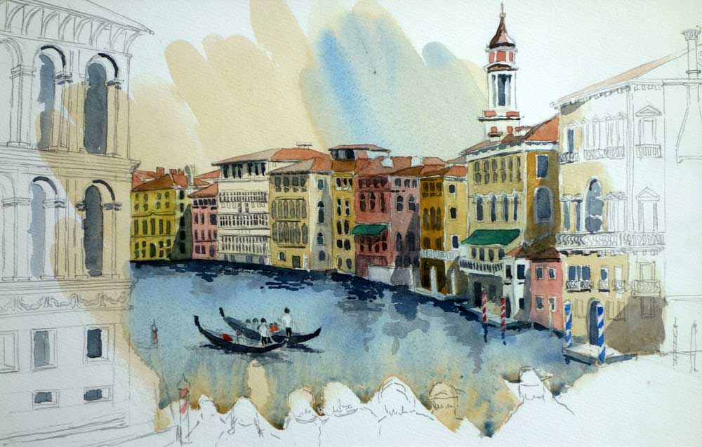 From the Rialto Bridge, Venice, $425 Framed